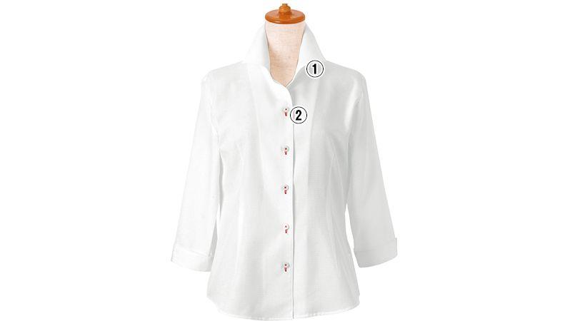 24227 BONUNI(ボストン商会) シャツ/七分袖(女性用) 商品詳細・こだわりPOINT