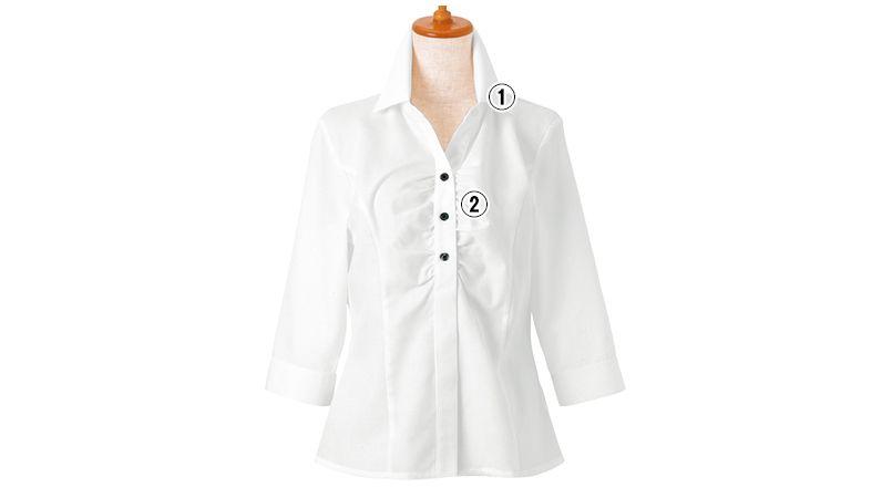 24228 BONUNI(ボストン商会) シャツ/七分袖(女性用) 商品詳細・こだわりPOINT