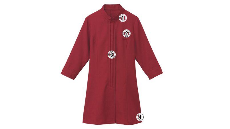 24231 BONUNI(ボストン商会) マオカラーシャツ/七分袖(女性用) 商品詳細・こだわりPOINT