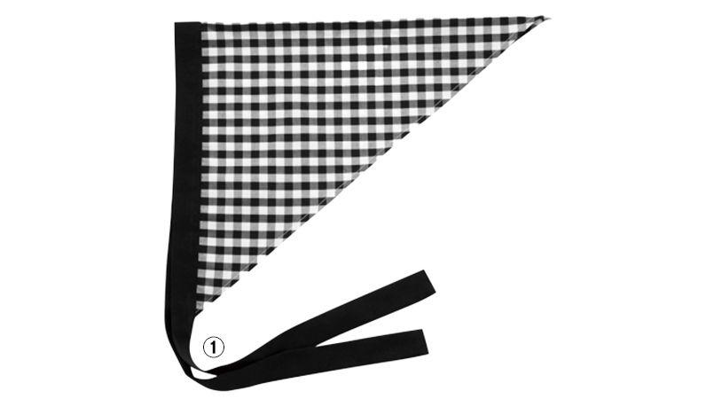 28311 BONUNI(ボストン商会) 三角巾(男女兼用) 先染チェック 商品詳細・こだわりPOINT