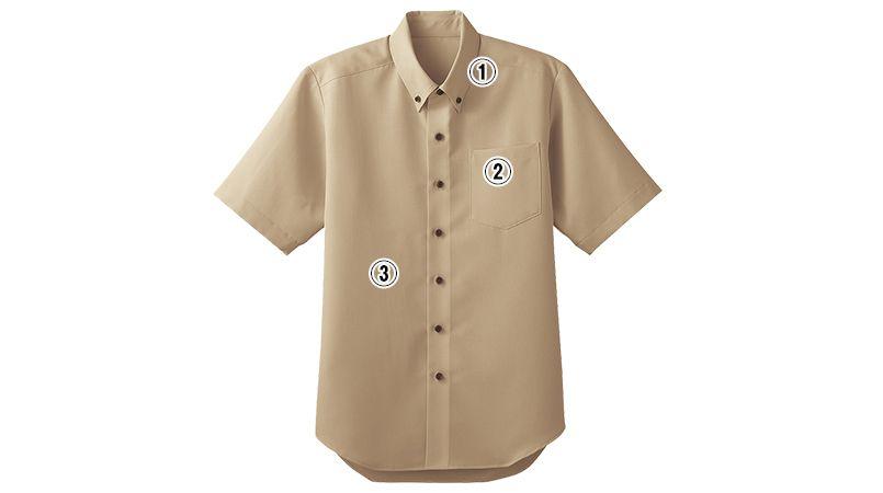 33308 BONUNI(ボストン商会) ボタンダウンシャツ/半袖(男女兼用) 商品詳細・こだわりPOINT