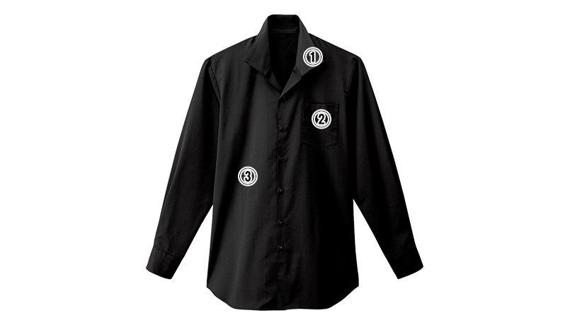 34108 BONUNI(ボストン商会) イタリアンカラーシャツ/長袖(男性用) 商品詳細・こだわりPOINT