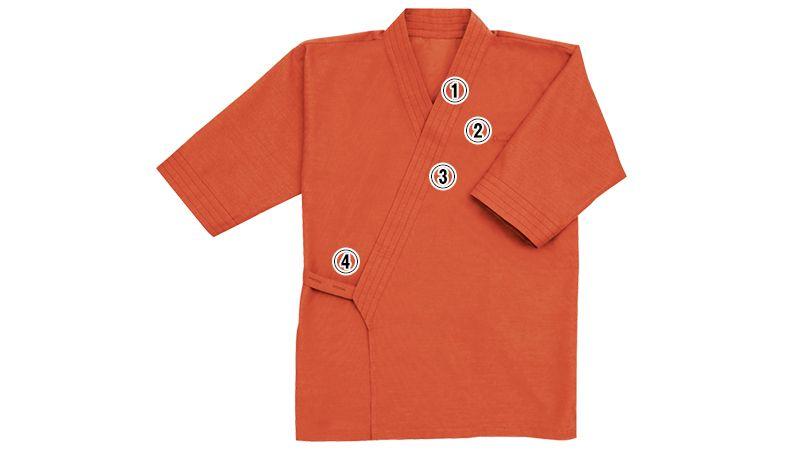 41305 BONUNI(ボストン商会) 作務衣 上衣(男女兼用) 商品詳細・こだわりPOINT