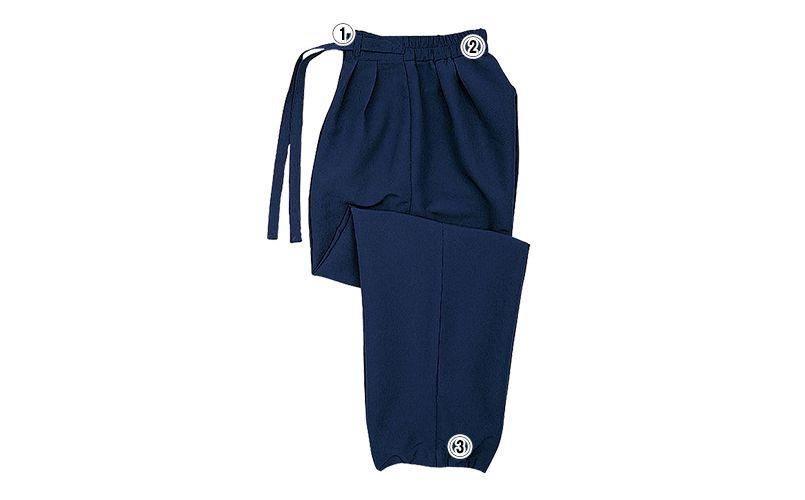 42301 BONUNI(ボストン商会) 作務衣下衣(男女兼用) ちりめん 商品詳細・こだわりPOINT