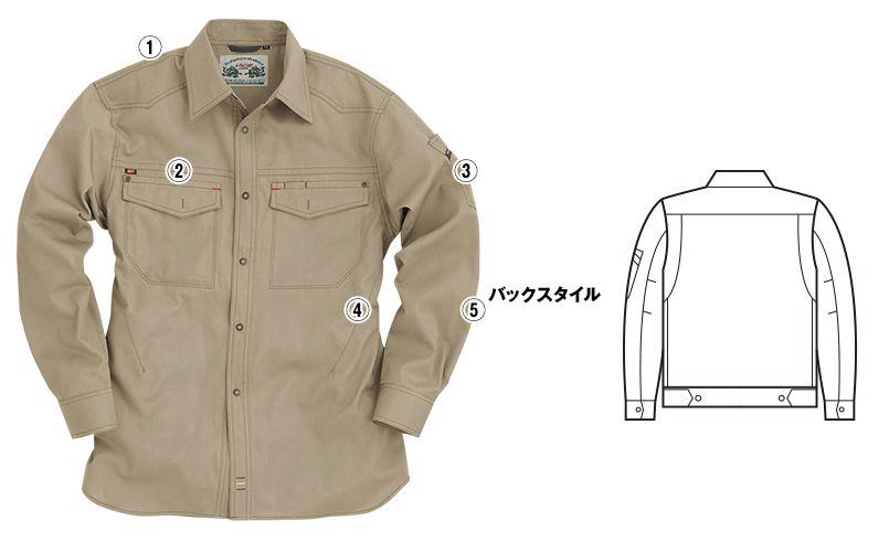 バートル 1103 [春夏用]制電T/Cライトチノ長袖シャツ(男女兼用) 商品詳細・こだわりPOINT