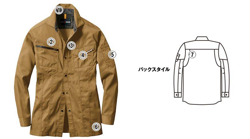 バートル 1715 T/Cライトチノ長袖シャツ(JIS T8118適合)(男女兼用) 商品詳細・こだわりPOINT