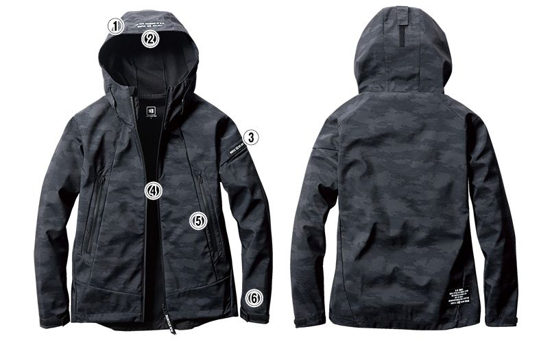 バートル 3190 ストレッチフーデッドジャケット(男女兼用) 商品詳細・こだわりPOINT