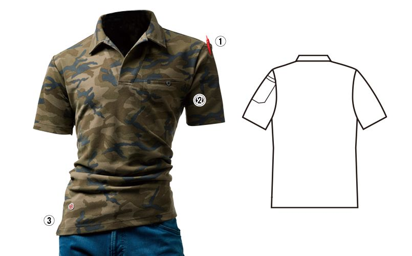 バートル 4058 [春夏用]オープンカラーポロシャツ 商品詳細・こだわりPOINT