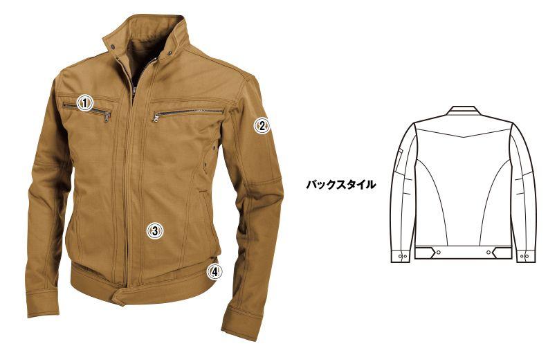 バートル 5301 T/C リップクロスメンズジャケット(男女兼用) 商品詳細・こだわりPOINT