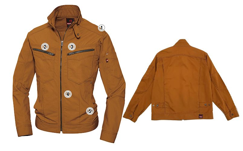 バートル 5511 [春夏用]綿100%リップクロスジャケット(男女兼用) 商品詳細・こだわりPOINT