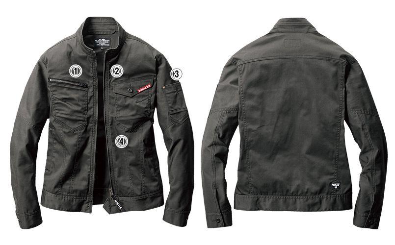 バートル 661 [秋冬用]T/Cストレッチツイルジャケット(男女兼用) 商品詳細・こだわりPOINT