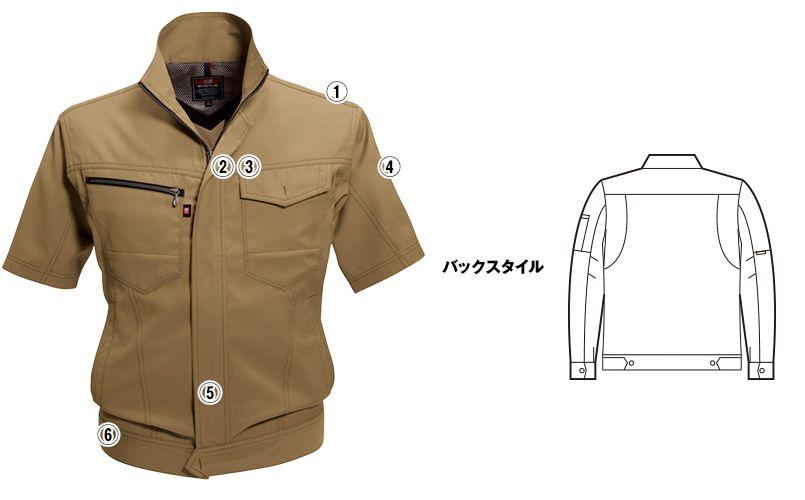バートル 7092 [春夏用]ドビークロス半袖ジャケット(JIS T8118適合)(男女兼用) 商品詳細・こだわりPOINT