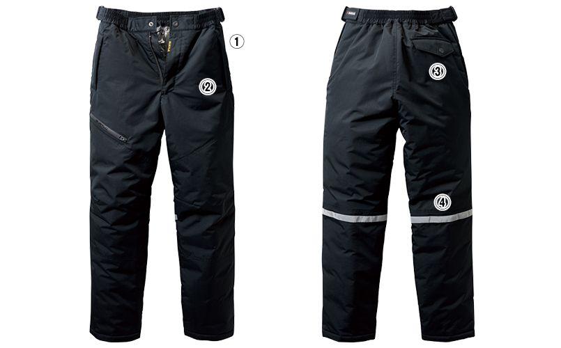 バートル 7612 [秋冬用]防水防寒パンツ(男女兼用) 商品詳細・こだわりPOINT