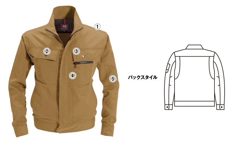 バートル 8051 ヴィンテージソフトツイルジャケット(男女兼用) 商品詳細・こだわりPOINT
