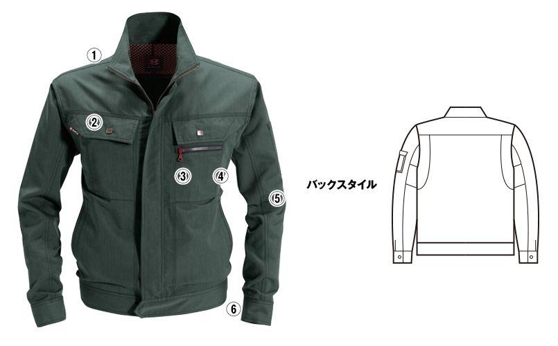 バートル 8061 [春夏用]ヴィンテージライトチノ長袖ジャケット(男女兼用) 商品詳細・こだわりPOINT