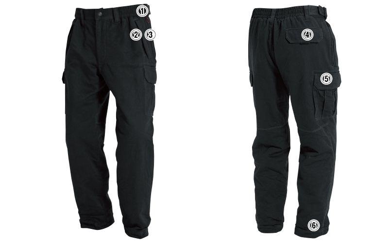 バートル 8112 チノクロス防寒パンツ(綿100%)(男女兼用) 商品詳細・こだわりPOINT