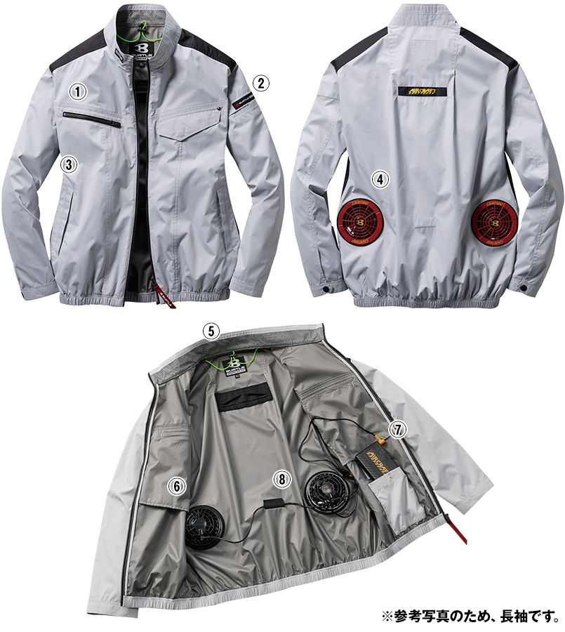 空調服 AC1071SET-B バートル エアークラフト 長袖ブルゾン(男女兼用) 商品詳細・こだわりPOINT