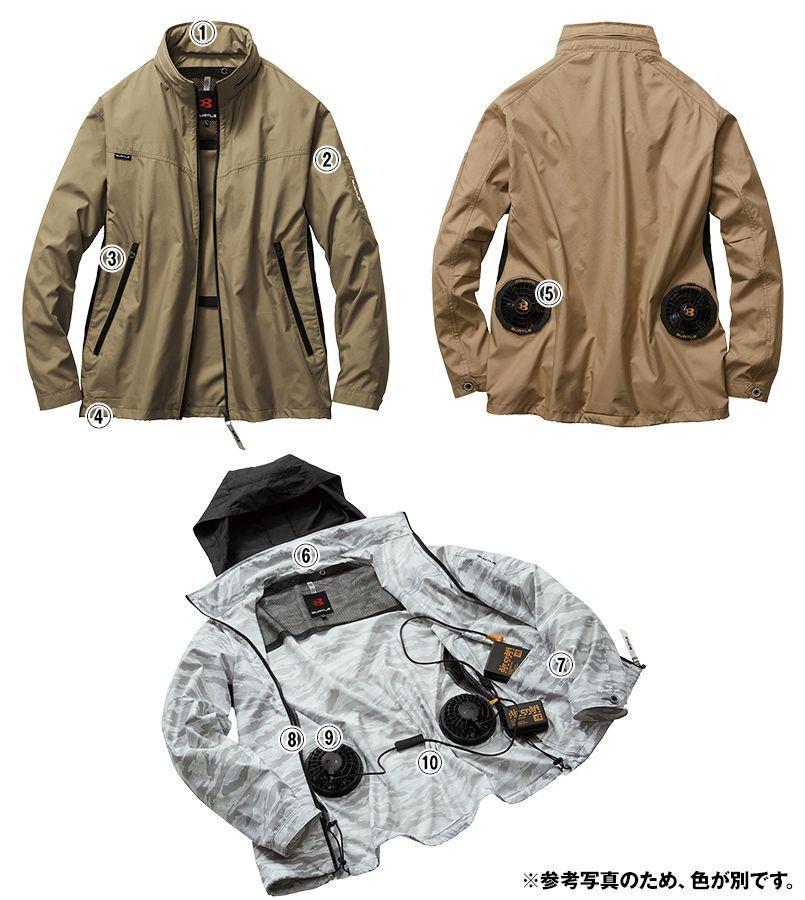 バートル AC1111SET-B エアークラフト 長袖ジャケット(男女兼用) ポリ100% 商品詳細・こだわりPOINT
