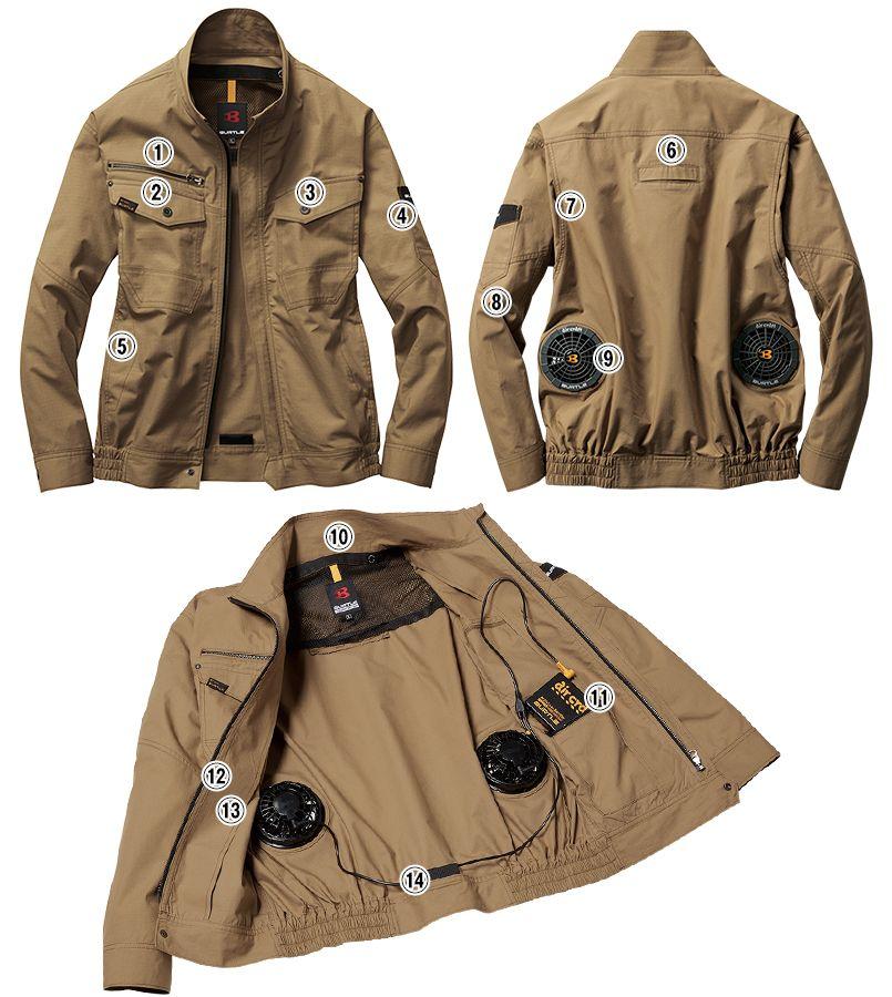 空調服 バートル AC1131SET-D エアークラフトセット 長袖ブルゾン(男女兼用) 綿100% 商品詳細・こだわりPOINT
