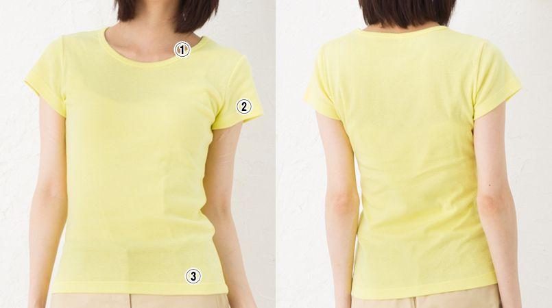 CVCフライスTシャツ(ガールズ)(6.2オンス)(女性用) 商品詳細・こだわりPOINT