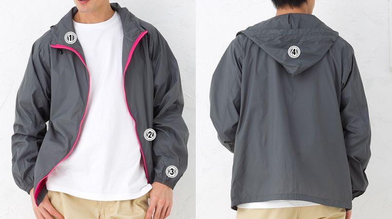 ナイロン フルジップジャケット(男女兼用) 商品詳細・こだわりPOINT