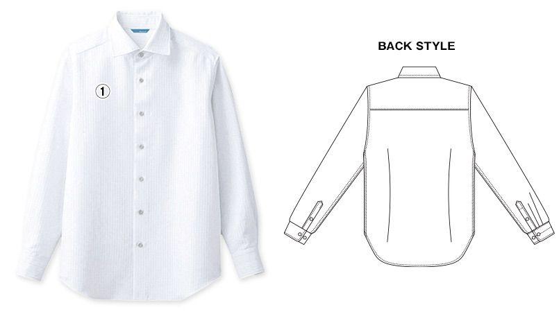 BC-6910 チトセ(アルベ) ワイドカラーのブランチシャツ(男性用) 商品詳細・こだわりPOINT