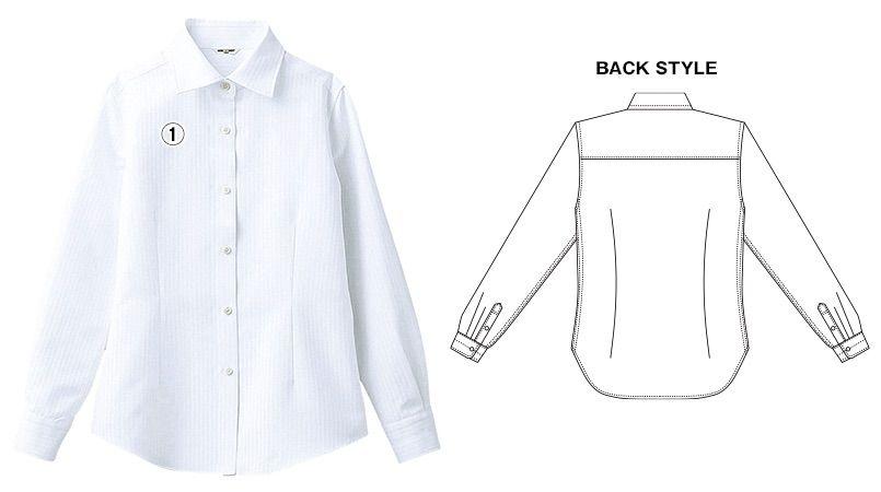 BC-6912 チトセ(アルベ) ワイドカラーのブランチシャツ(女性用) 商品詳細・こだわりPOINT