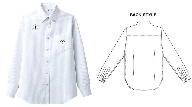 BC-6918 チトセ(アルベ) ブランチ ボタンダウンシャツ/長袖(男性用) 商品詳細・こだわりPOINT