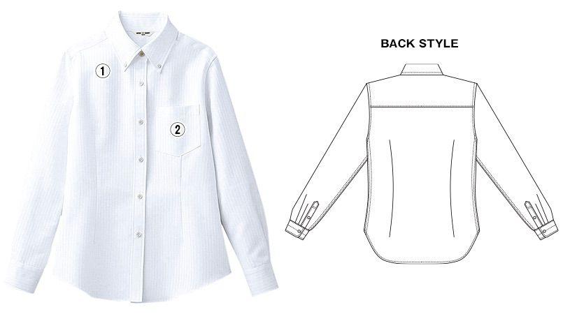 BC-6920 チトセ(アルベ) ブランチ ボタンダウンシャツ/長袖(女性用) 商品詳細・こだわりPOINT