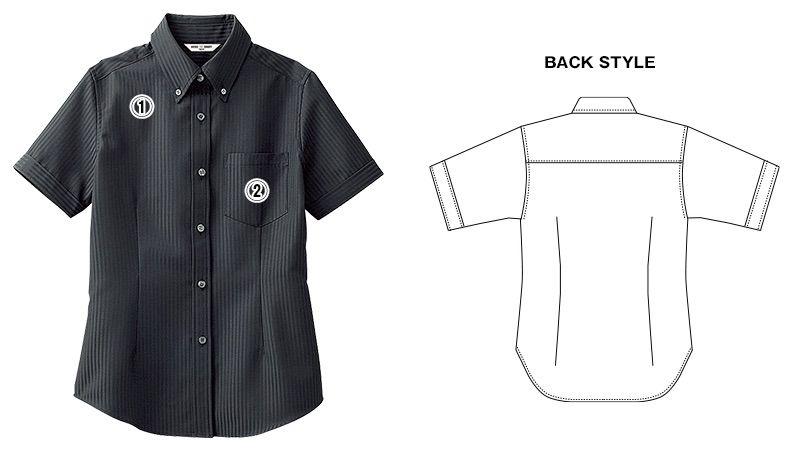 BC-6921 チトセ(アルベ) ブランチ ボタンダウンシャツ/半袖(女性用) 商品詳細・こだわりPOINT