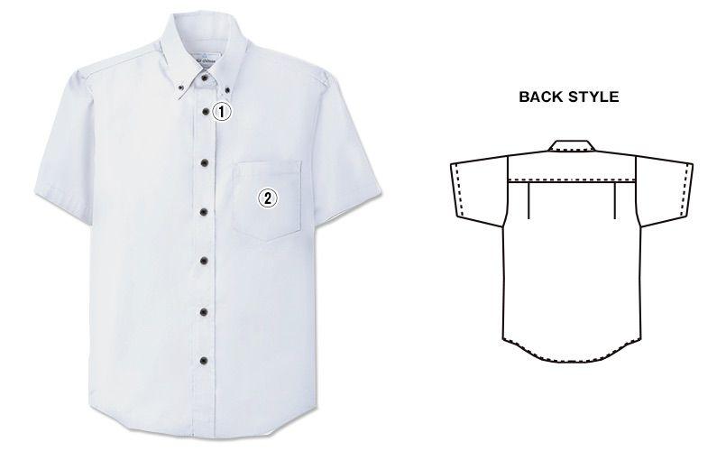 EP-7617 チトセ(アルベ) ボタンダウンシャツ/半袖(男女兼用) 商品詳細・こだわりPOINT