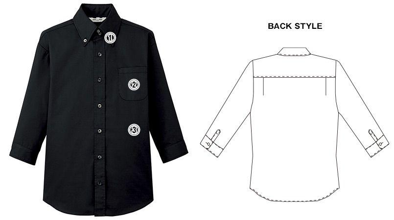 EP-7821 チトセ(アルベ) ボタンダウンシャツ/七分袖(男女兼用) 商品詳細・こだわりPOINT