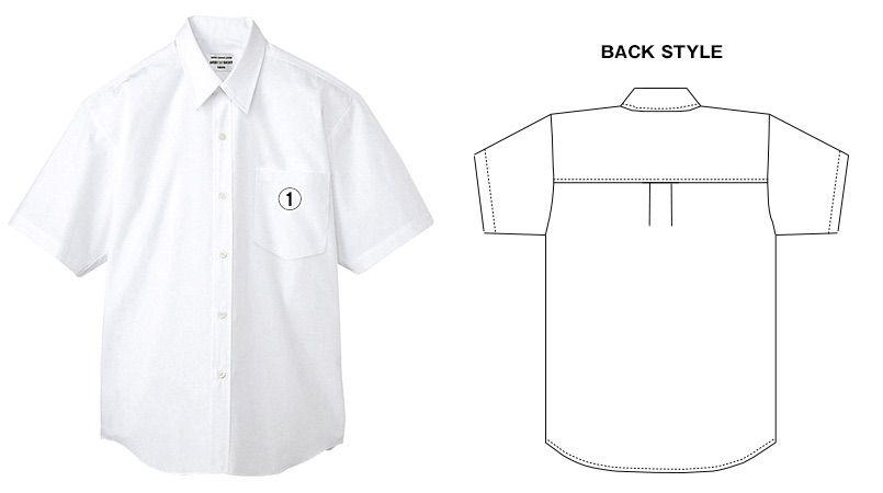 EP-828 チトセ(アルベ) カッターシャツ/半袖(男性用) 商品詳細・こだわりPOINT