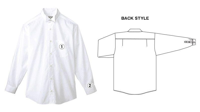 KM-4038 チトセ(アルベ) ウィングカラーシャツ/長袖(男性用) 商品詳細・こだわりPOINT