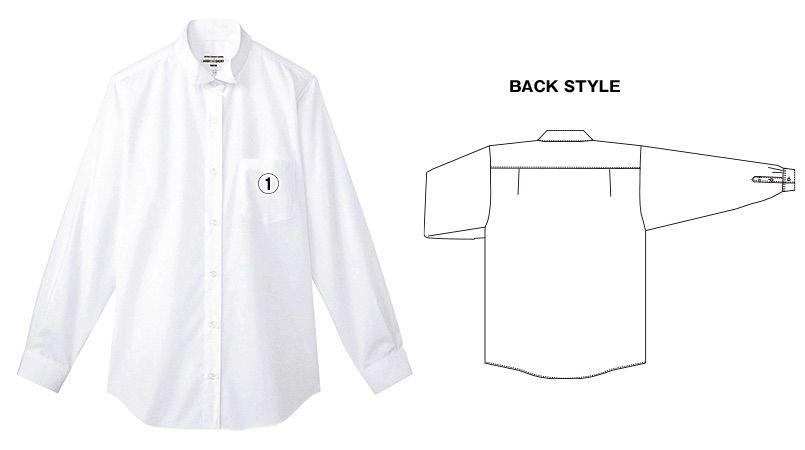 KM-4039 チトセ(アルベ) ウィングカラーシャツ/長袖(女性用) 商品詳細・こだわりPOINT