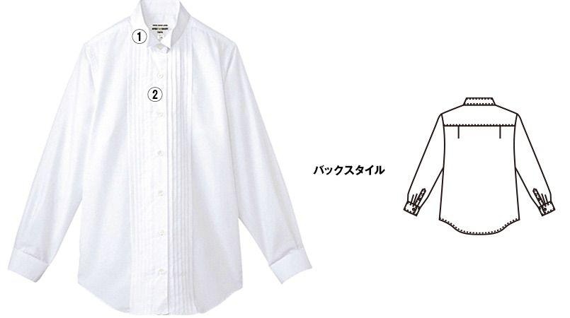 KM-4091 チトセ(アルベ) ピンタックウイングカラーシャツ(女性用) 商品詳細・こだわりPOINT