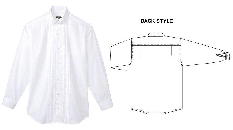 KM-4092 チトセ(アルベ) ピンタックウイングカラーシャツ(男性用) 商品詳細・こだわりPOINT