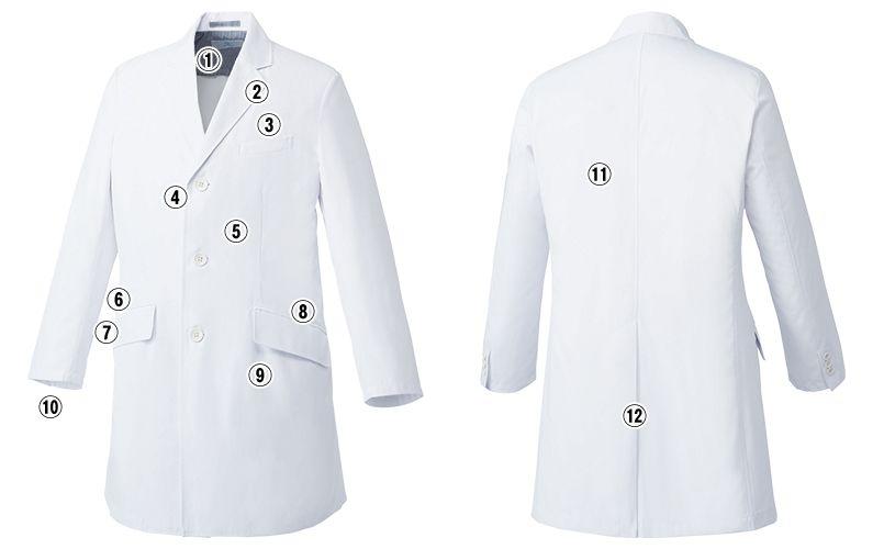 MZ-0025 ミズノ(mizuno) ドクターコート・シングル(男性用) 商品詳細・こだわりPOINT