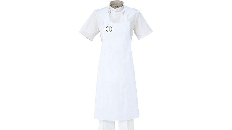 T-70 チトセ(アルベ) 厨房 胸当てエプロン(ポケ無し)(男女兼用) 商品詳細・こだわりPOINT