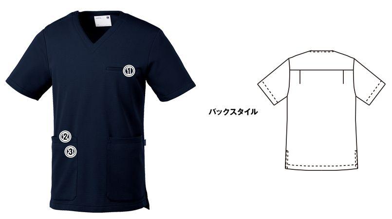 UN-0075 UNITE(ユナイト) ブロックニット スクラブ(男性用) 商品詳細・こだわりPOINT