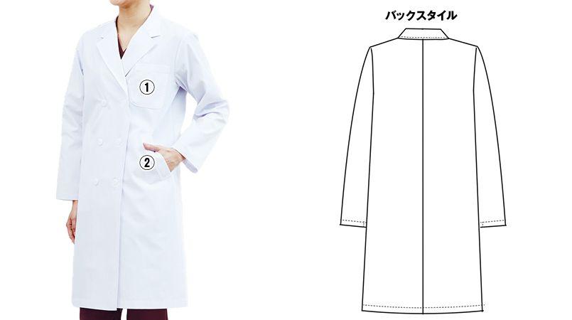 2531PO FOLK(フォーク) 診察衣ドクターコート(女性用) 商品詳細・こだわりPOINT