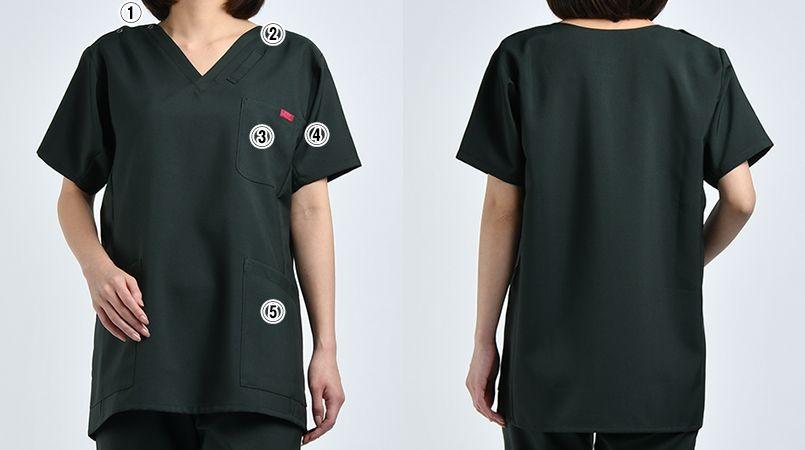 7013SC FOLK(フォーク) 国境なき医師団 スクラブ(男女兼用) 商品詳細・こだわりPOINT