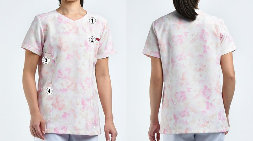 7034SC FOLK(フォーク)/フラワー レディース花柄ジップスクラブ(女性用) 商品詳細・こだわりPOINT