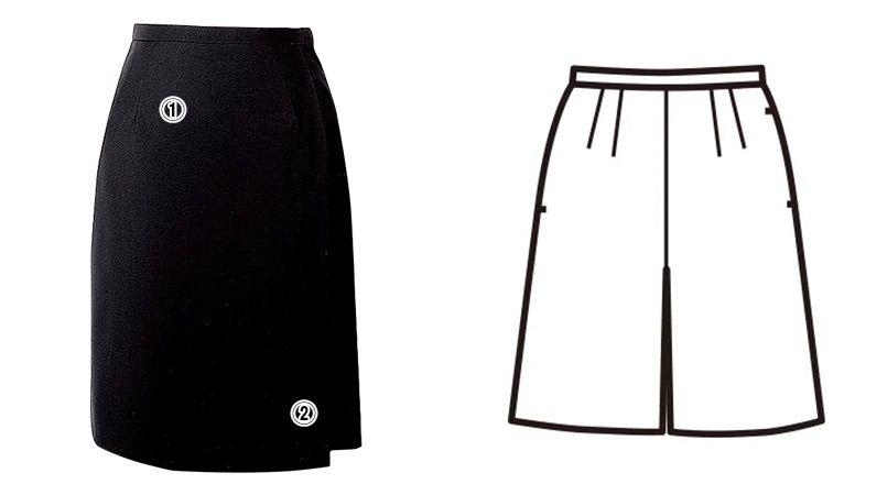 FC5522 nuovo(ヌーヴォ) [通年]キュロットスカート 無地 商品詳細・こだわりPOINT