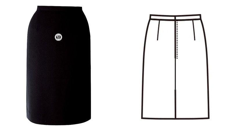 FS4568 nuovo(ヌーヴォ) [通年]セミタイトスカート 無地 商品詳細・こだわりPOINT