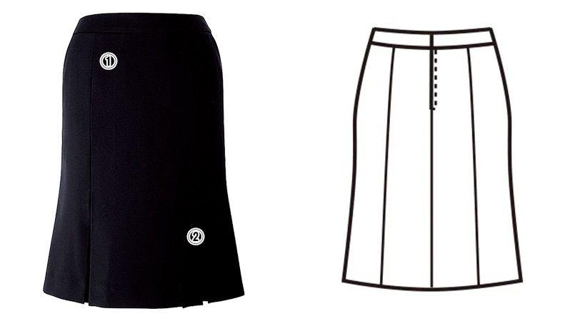 FS4569 nuovo(ヌーヴォ) [通年]マーメイドプリーツスカート 無地 商品詳細・こだわりPOINT