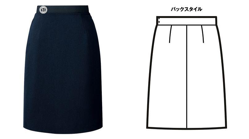FS45801 nuovo(ヌーヴォ) ウエストゴムAラインスカート 無地 商品詳細・こだわりPOINT
