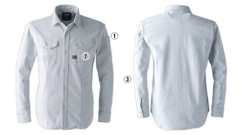 7901 アイズフロンティア ストレッチツイルワークシャツ 商品詳細・こだわりPOINT