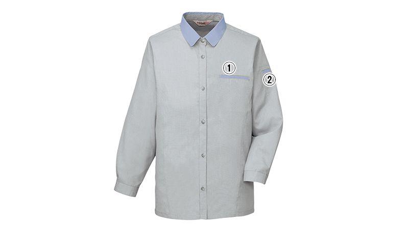 自重堂 45305 製品制電清涼 レディース長袖シャツ(JIS T8118適合) 商品詳細・こだわりPOINT