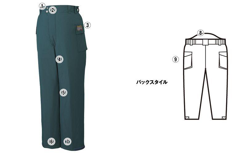 自重堂 48381 シンサレートウルトラ防水防寒パンツ 商品詳細・こだわりPOINT